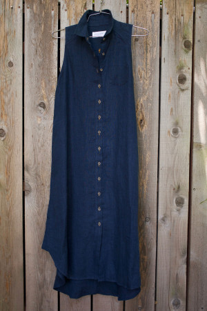 Deep Indigo Shirt Dress