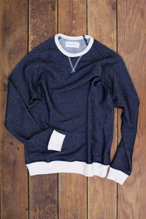 Navy Blue French Terry Pullover