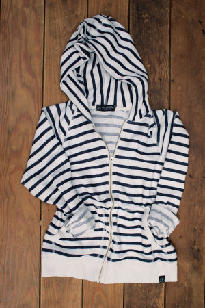 Breton Stripe French Terry Hoodie